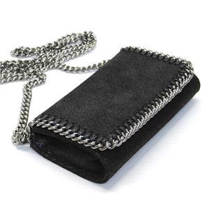 STELLA McCARTNEY (ステラマッカートニー) 468909 W9132 1000 ファラベラ シャギー ディア モバイル・スマホ用ケース ショルダーバッグ I Phone 6 Case Shaggy Deer Falabella