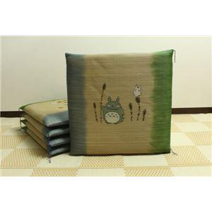 純国産/日本製 捺染返し い草座布団 『つくしトトロ 5枚組』 約55×55cm×5P