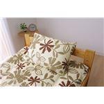 布団カバー 洗える 花柄 リーフ柄 『ルイード 枕カバー』 ブラウン 約43×63cm の詳細ページへ
