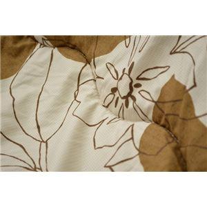 こたつ布団 長方形 掛け単品 洗える リーフ柄 『ソレイユ』 ベージュ 約190×240cm