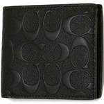 COACH アウトレット デボスド シグネチャー クロスグレーン レザー コイン ウォレット / 二つ折り財布 F75363 BLK の詳細ページへ