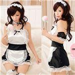 バックオープンエプロン付きスカート(DS014-BK/c037-bk) ブラック