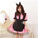 ブラックエプロンメイド(DS468-PI/211) ピンク