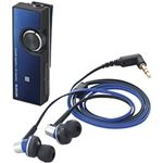 エレコム Bluetoothオーディオレシーバー/イヤホン付/AV用/デュアルアンプ搭載/Class1/ブルー LBT-PHP500AVBU
