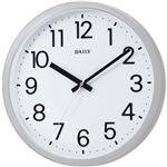 リズム時計 クオーツ式掛け時計 フラットフェイスDN (シルバー)