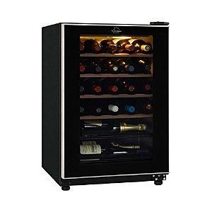 カジュアルワインセラー 家庭用ワインセラー ワインクーラー 収納26本 ブラック FJC-85G(BK)