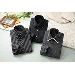 ドレスシャツ3枚組 50221(ブラック系) Sサイズの詳細ページへ