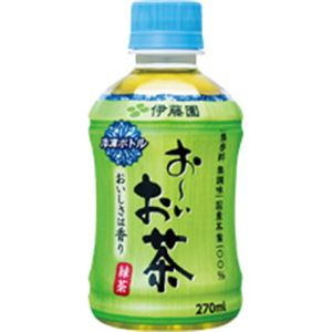(まとめ)冷凍ボトル おーいお茶 緑茶 270mlペット×24本