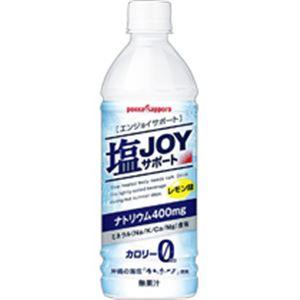 (まとめ)塩JOY(エンジョイ)サポート 495mlペット 24本入