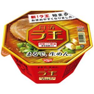 (まとめ)日清 ラ王 背脂コク醤油 113g 12個入