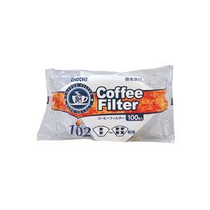(まとめ)日本デキシー コーヒーフィルター102漂白 2~4杯用 KOTB02CN 1パック(100枚)【×30セット】