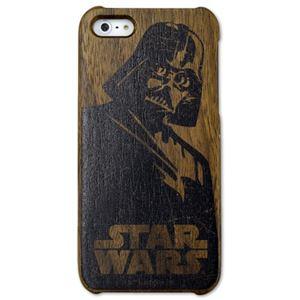 スマホカバー Woodケース iPhone 5s/5 スターウォーズ(ダース・ベイダー)
