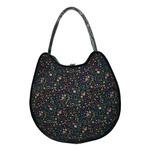 可愛い♪ネコの形の小花柄大きめトートバッグ/ネイビーの詳細ページへ