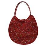 可愛い♪ネコの形の小花柄大きめトートバッグ/レッドの詳細ページへ