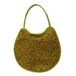 可愛い♪ネコの形の小花柄大きめトートバッグ/イエローの詳細ページへ