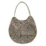 可愛い♪ネコの形の小花柄大きめトートバッグ/アイボリーの詳細ページへ