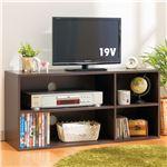シンプルテレビ台/テレビボード 2段(組立式) 1614251