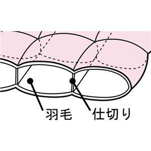 防ダニ生地使用特選羽毛掛布団 ピンク