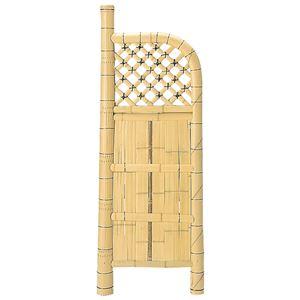 和モダン 竹垣/パーテーション 【幅60cm×高さ170cm】 天然竹製 エアコン室外機対応 『白玉袖垣』 〔庭 屋外〕