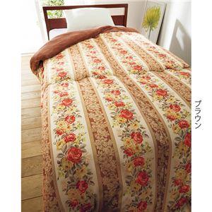 衿裏あったか 掛け布団/寝具 【シングル 3色組】 ブラウン グリーン ベージュ ポリエステル 〔ベッドルーム 寝室〕