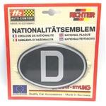 HR プラスチックデコエンブレム D(ドイツ) ブラック L の詳細ページへ
