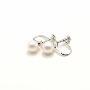7mm珠 あこや本真珠 イヤリング