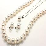 アコヤ本真珠 8.5-9.0mm珠 ネックレス&ピアス&ペンダント 3点セットの詳細ページへ
