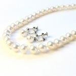 アコヤ本真珠 8.5-9.0mm珠 ネックレス&イヤリングの詳細ページへ