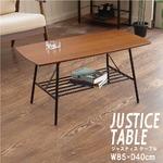 【2個セット】センターテーブル(ブラウン/茶)  幅85cm  ローテーブル/机/収納棚付き/スチール/アイアン/黒/木目/木製/モダン/ウォールナット/ミッドセンチュリー/JST-06の詳細ページへ