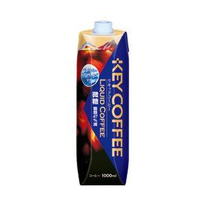 キーコーヒー テトラプリズマ リキッドコーヒー天然水微糖 1箱(1000ml×6本)