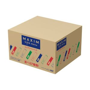 AGF マキシム スティック コンプリート 1箱(116本) 7種類のフレーバー入り