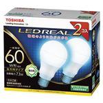 東芝 LED電球 一般電球形 全方向タイプ 810lm 昼白色2P LDA7N-G/60W-2Pの詳細ページへ
