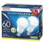東芝 LED電球 一般電球形 広配光タイプ 810lm 昼白色2P LDA7N-G-K/60W-2Pの詳細ページへ