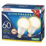 東芝 LED電球 一般電球形 広配光タイプ 810lm 電球色2P LDA8L-G-K/60W-2Pの詳細ページへ