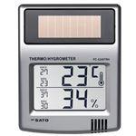 佐藤計量器製作所 ソーラーデジタル温湿度計 PC-5200TRH 1050-10