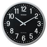 キングジム 電波掛時計 ザラ-ジ 黒文字盤 GDK-001K
