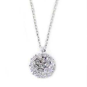 ダイヤモンド ネックレス K18 ホワイトゴールド 0.72ct ダイヤネックレス 0.72カラット サークル ペンダント 限定1点限り