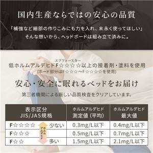 【組立設置費込】 照明付き 宮付き 国産フロアベッド ダブル (SGマーク国産ボンネルコイルマットレス付き) ナチュラル 『illume』イリューム 日本製ベッドフレーム