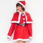 【クリスマスコスプレ 衣装】P×P レディースサンタクロース サンタコスプレ女性用 ワンピース&肩がけの詳細ページへ