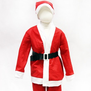 【クリスマス 衣装 コスチューム 子供用】P×P ボーイズサンタクロース サンタコスプレ子供用 ジャケット&パンツ (3 – 5才向け)
