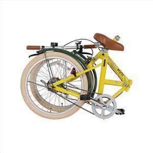折り畳み自転車 シンプルスタイル H20COLイエロー 239-05M