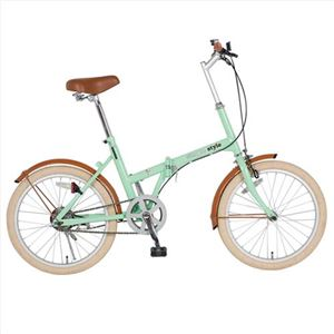 折り畳み自転車 シンプルスタイル H20COL緑 239-06M