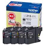 ブラザー インクカートリッジ LC213-4PKの詳細ページへ