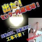 Wセンサー内蔵電球人が来たら自動点灯、勝手に消灯で省エネ【2個組】の詳細ページへ