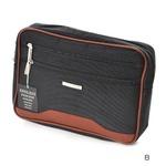 多収納セカンドバッグの定番!2カラー クラッチバッグ ポーチ メンズ ブラック 0352
