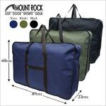 MOUNT ROCK 大容量ボストンバッグ!旅行 キャンプ 男女兼用 33038 ブラック