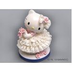 【陶器のキティ】陶製とは思えない、繊細なレース ■ハローキティ レースドール (ホワイト)の詳細ページへ