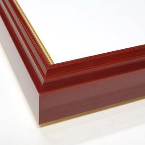 【色紙額】赤い縁に金色フレーム 色紙用 壁掛けひも ■赤金 色紙(8×9)275×244mm