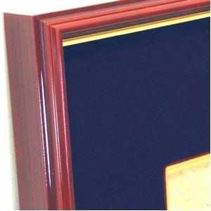 【色紙額】赤い縁に金色フレーム 色紙用 壁掛けひも ■赤金 色紙(マット付き)275×244mm 紺