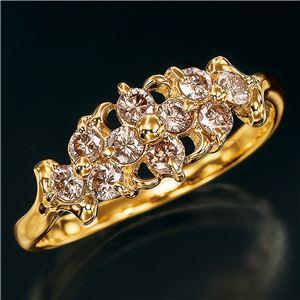 18金ブラウンダイヤリング 指輪 0.5カラット 9号